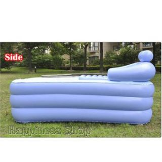 Folding Portable Bathtub Inflatable Bath Tub Air Pump Fast SHIP
