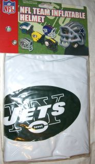 Jets giant inflatable helmet official NFL football NWT wearable osfm