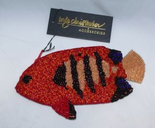 Inge Christopher Hand Beaded Tropical Fish Purse
