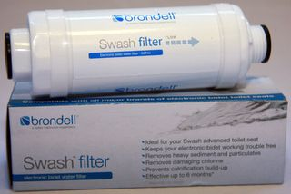 Brondell SWF44 Swash Bidet Seat Inline Water Filter