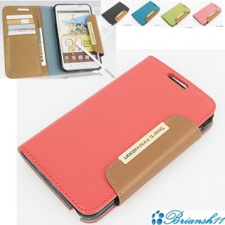 case Samsung Galaxy Note Innovation Case Genuine Leather Peach Pink