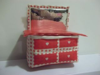 Vintage Barbie Doll Blow Up Inflatable Dresser Dollhouse Furniture