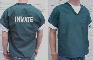 Genuine Teen Prison Jail Inmate Uniform Work T Shirt
