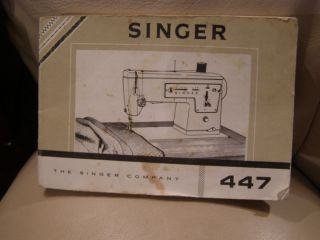 1967 Singer Sewing Machine Model 447 Insrucions Manual Book