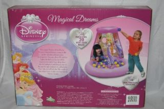 New Disney Princess Magical Dreams Inflatable Ball Pit Tent
