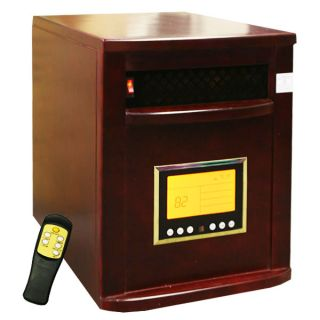 Cabinet Cherry 1500W Portable Quartz Infrared Heater w/ wheels 5600BTU