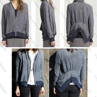 BNWT $338 Inhabit Linen Cotton Asymmetrical Cardigan Jacket Top