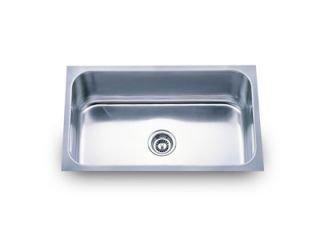 Sinks PL 868 30 Stainless Steel Undermount Single Bowl Kitchen Sink