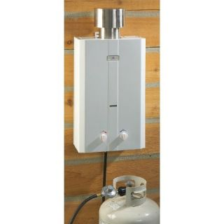 water pressure. A tankless hot water heating system does not store hot