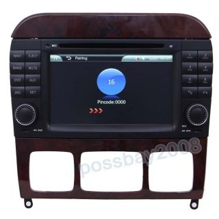 Benz S class W220 Car GPS Navigation AUX IPOD Radio TV DVD Player