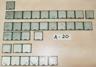 Mixed lot of 34 Intel CPU (Core 2 Quad Core 2 Duo Dual Core Pentium D
