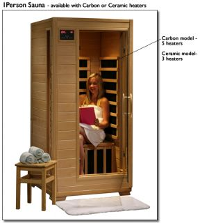 Person Infrared Sauna with 5 Carbon Heaters
