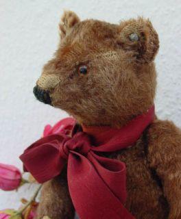 Antique Brown Steiff Teddy Bear FF Button 1915