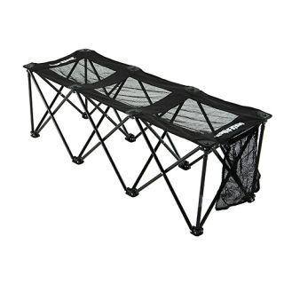 Insta Bench 3 Seater Sports Portable Folding Mesh Bench & Carry Bag