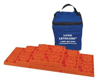 Tri Lynx Leveler for RV Leveling Block 10 Pack w Storage Case Under