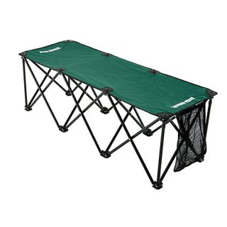 Insta Bench 3 Seater Portable Folding Sports Bench and Carry Bag Green