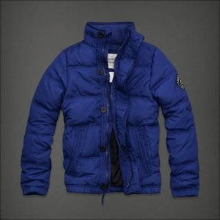 Mens Abercrombie Fitch Latham Pond Down Winter Jacket Coat Royal Blue