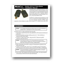 Intelix AVO V1 PAIR F Composite Video Balun Set, Installation Manual