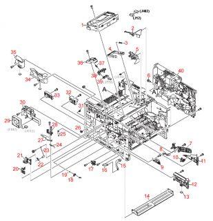 HP LaserJet 2400 2420 2430 Power Supply Engine Controller RM1 1516 RM1