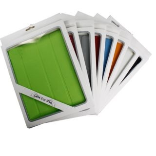 Black Magnetic Leather Smart Case Cover Fr iPad 2 iPad2