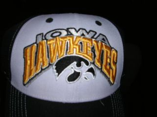 Iowa Hawkeyes Sports Hat Cap Raised Letters New w Tag Tow Baseball