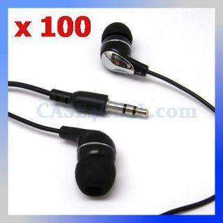 In Ear Earbud Earphone Headphone for  MP4 iPods 3.5mm Stereo, black
