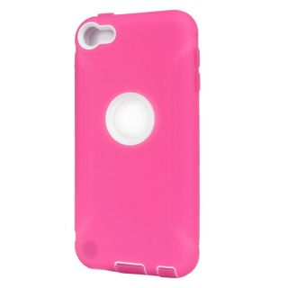 HP Fashion Tripe Layer Deluxe Hybrid White Hard Case Cover For iPod