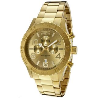 Invicta 1270 Mens Specialty Gold Plated Stainless Steel Gold Tone