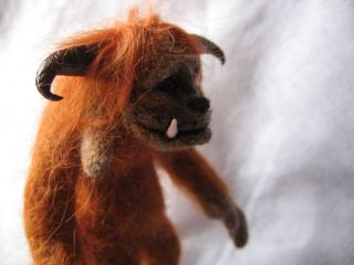 OOAK Needle Felted Ludo from Labyrinth by Artist Irma Hoani