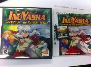 InuYasha Secret of The Divine Jewel Nintendo DS 2007 Complete