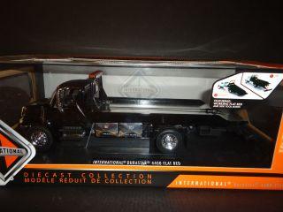 Jada International 4400 Durastar Flat Bed Tow Truck Chrome Bed Black 1