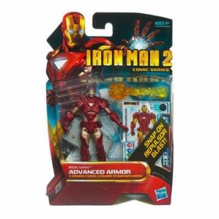 Iron Man 2 Comic Series 4 Inch Action Figure #32 Advanced Armor Iron
