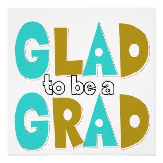 Multicolor in gold and teal graduation gift poster for the high school