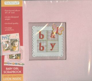 Baby Girl Newborn Scrapbook Album 20 Pre Designed Pages 8