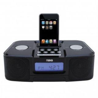 iPod Charging Speaker System Docking Station Alarm Clock Radio Remote