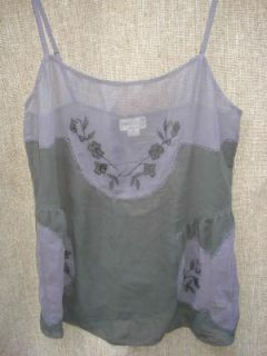 Womens Tikirani Sheer Tank Top Shirt Size M