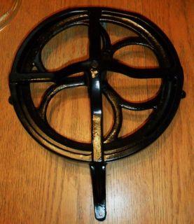cast iron sewing machine treadle wheel gear and housing steampunk