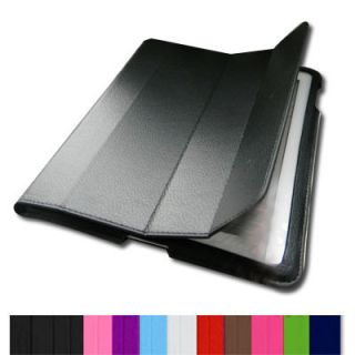 iPad 2/3 Smart Cover Slim Magnetic PU Leather Case Wake/ Sleep Stand