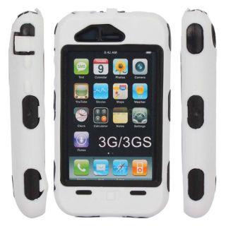 +Plastic Hard Defender Impact Case for iPhone 3 3G 3GS Black+White