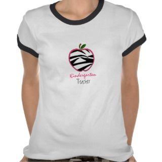 Kindergarten Teacher Shirt   Zebra Print Apple