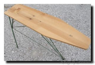Vintage Wood Wooden Metal Iron Ironing Board Table