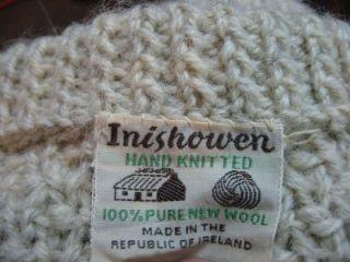 INISHOWEN HAND KNIT IRISH WOOL FISHERMAN CARDIGAN SWEATER WOMENS M