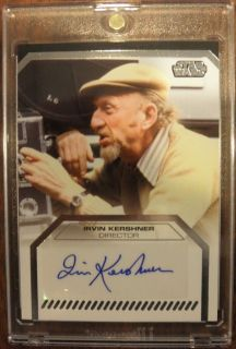 Files Star Wars AUTOGRAPH Irvin Kershner DIRECTOR SSP w Ultra Pro Case