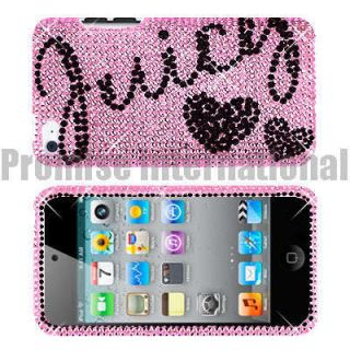 Black Heart Rhinestone Bling Case Cover For Apple Ipod Touch 4 4th Gen