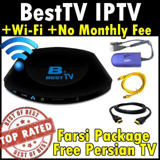 Besttv Farsi Persian Channel IPTV Mediabox Best TV WiFi Adapter No