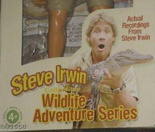 Steve Irwin Talking Action Figure Doll Wildlife Adventure Crocodile