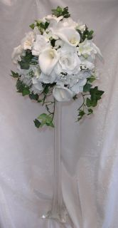 Centerpieces Custom Colors Silk Roses Wedding Flowers Reception