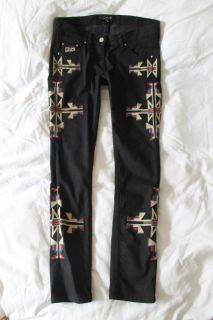 Navajo $660 Isabel Marant Renel Embroidered Skinny Jeans 2 M