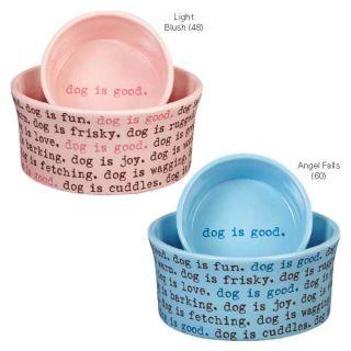 Dog Is Good Dogism Ceramic Dog Food Water Dish Pet Bowl
