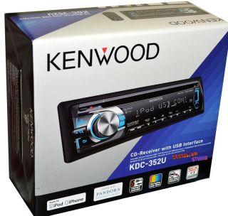 KDC 352U CD  iPod iPhone Am FM USB Aux Pandora Receiver Car Radio